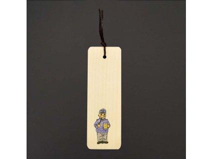 Dřevěná záložka se Švejkem 15 cm