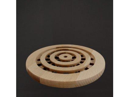 Kulatá buková podložka pod hrnec, masivní dřevo, 20 cm