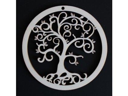 36721 ozdoba kulatá Strom přírodní spirálky 9cm 21Kč
