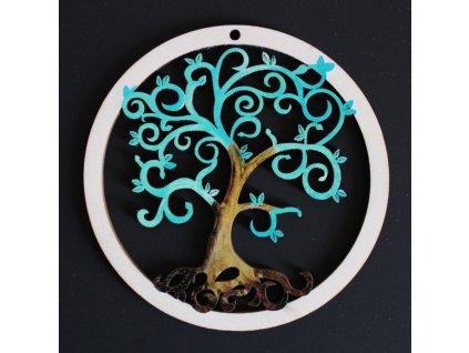 36722 ozdoba kulatá Strom zelená spirálky 9cm 31Kč