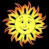 Dřevěná ozdoba slunce
