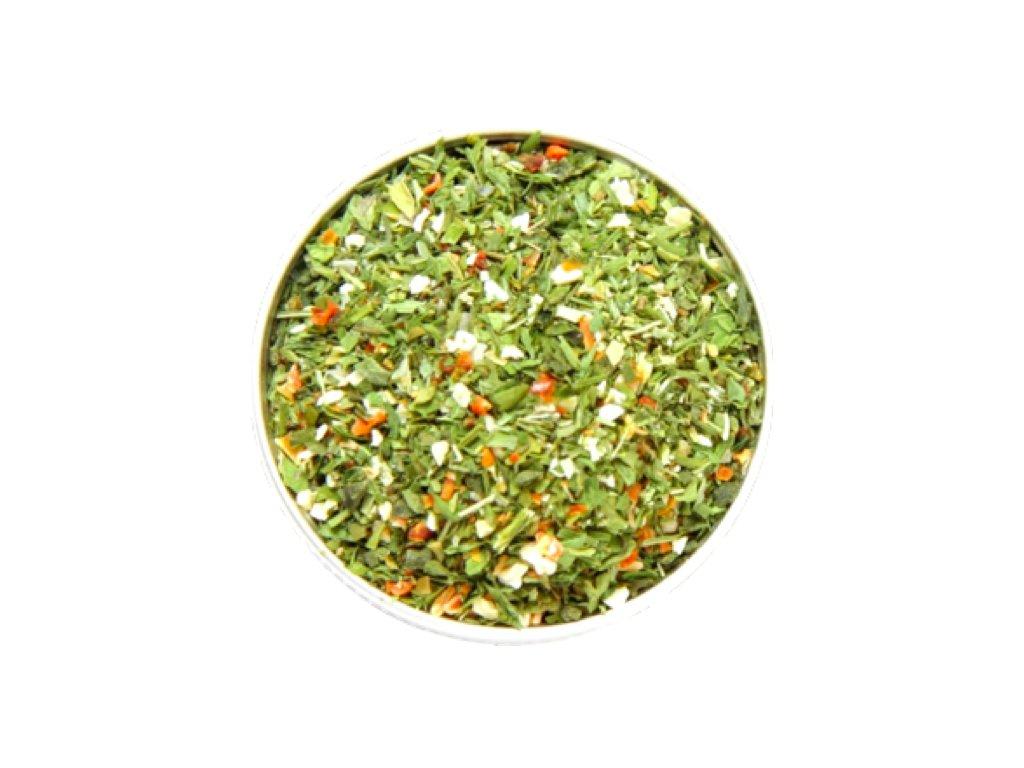salátové bylinky a