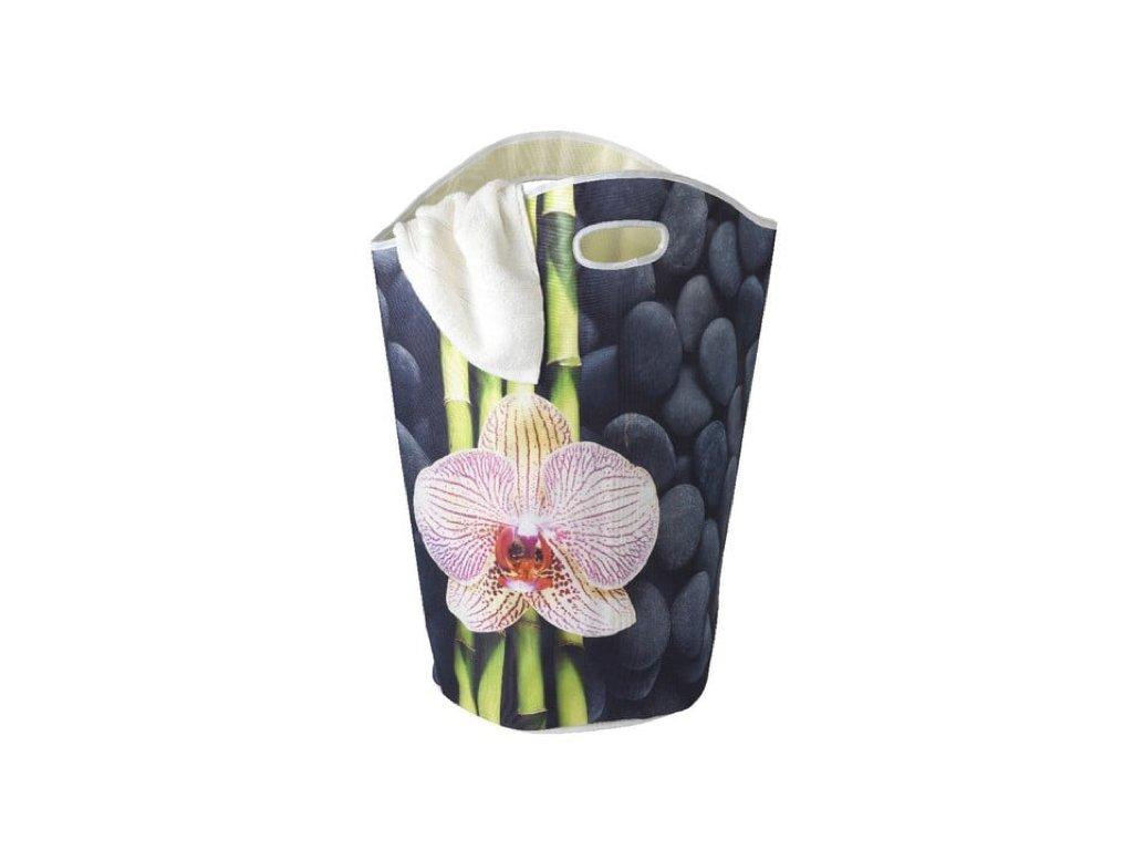 koš na prádlo orchidej a