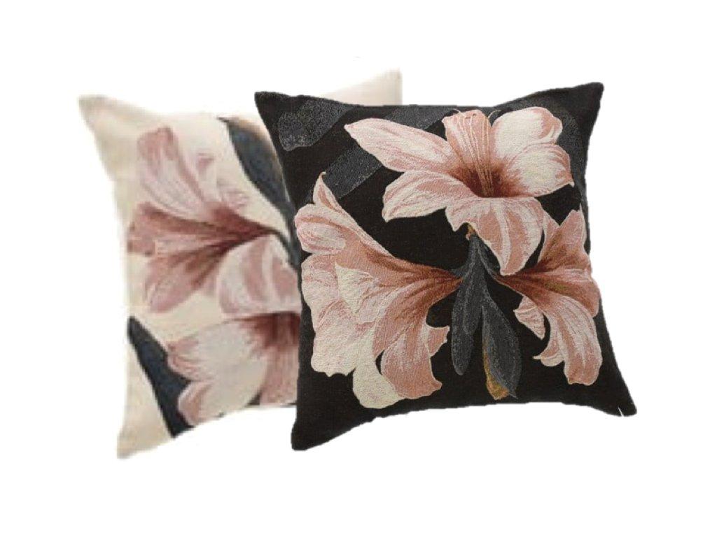 polštář gobelín lilie
