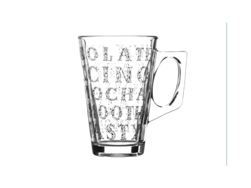 sklenice na laté capucino