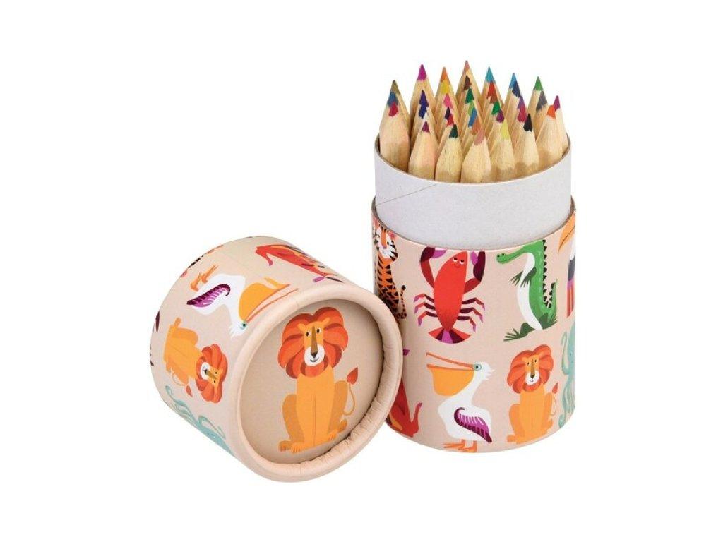 mini pastelky 36 ks veselá zvířátka a