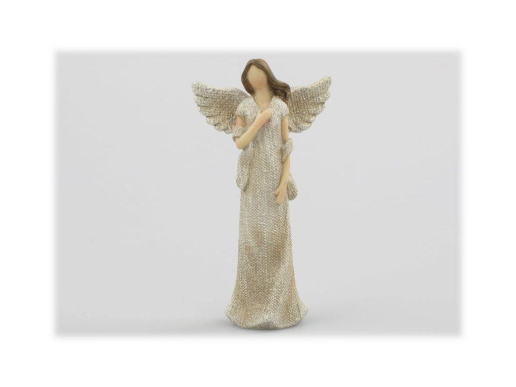 anděl stojící 15 cm