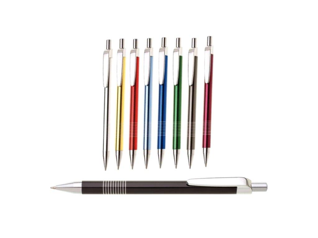 Kuličkové pero kovové mix barev