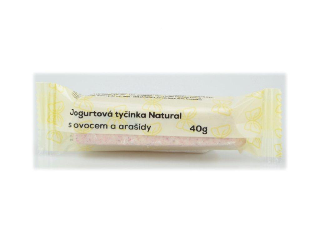 jogurtová tyčinka ovoce arašídy a
