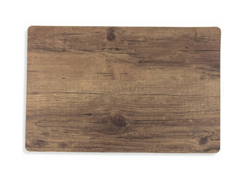 prostírání dřevo a