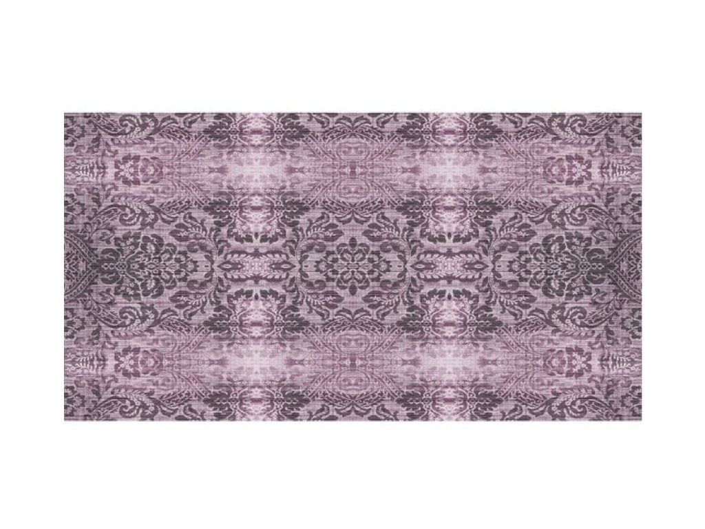 Vit kobereček lila tapet b