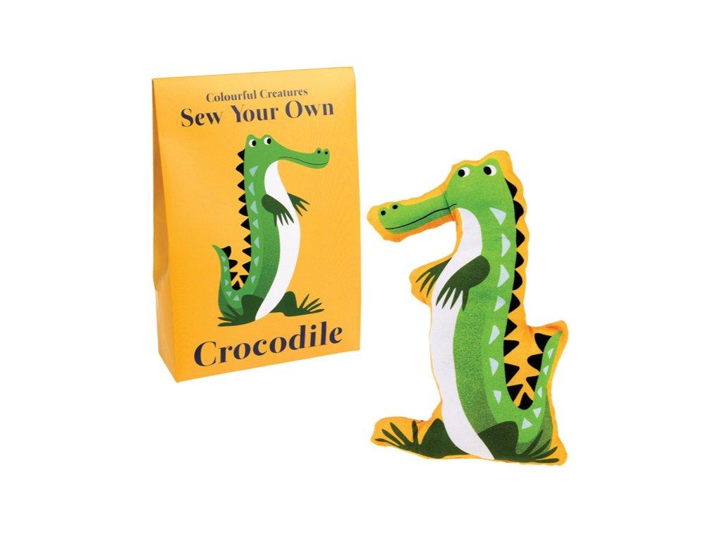 hračka na ušití krokodýl a