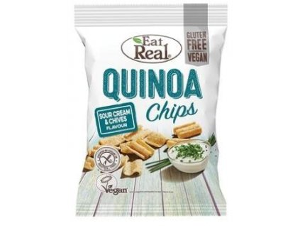 čipsy quinoa smetana