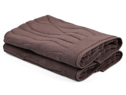 ručníky beverly hnědé a