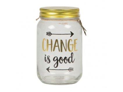 kasička změna a