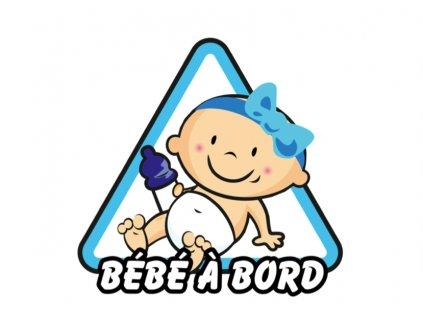 samolepka Baby on board modrá a