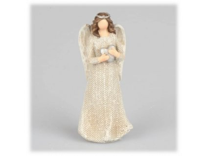 anděl srdce 15 cm