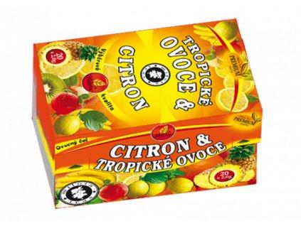 trpické ovoce citron a