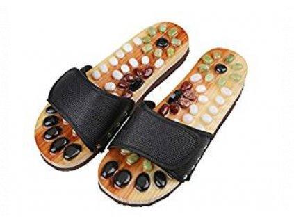 masážní pantofle přírodní a