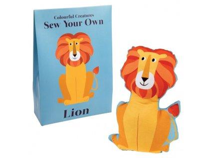 hračka na ušití lev a