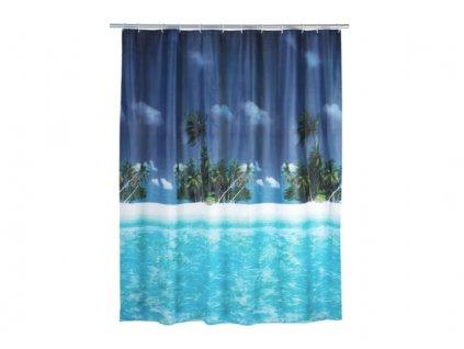 sprchový závěs pláž a