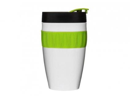 termohrnek to go mug bílo zelený