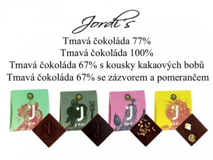 jordis čokolády mix hořký