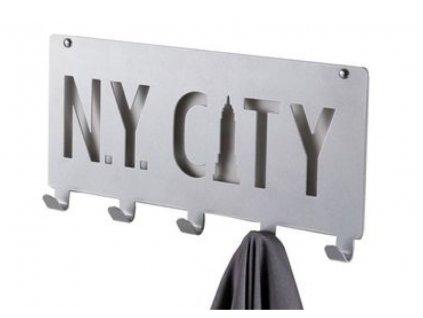 věšák NY city šedý a