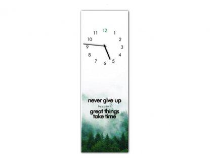 hodiny never give up a