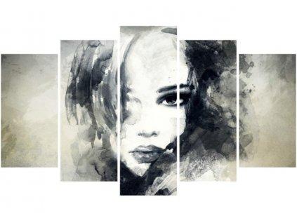 obraz 5D dívčí tvář a