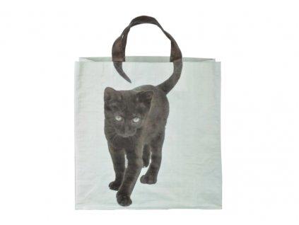 taška kočka černá a
