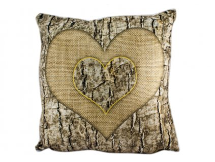 povlak 3D srdce wood