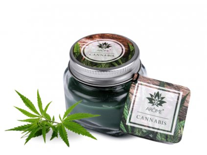 svíčka floral cannabis