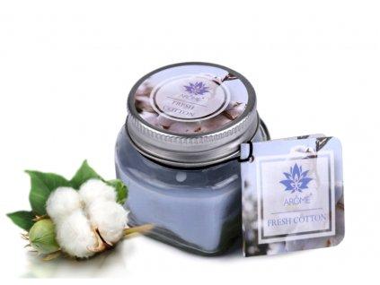 svíčka floral fresh cotton