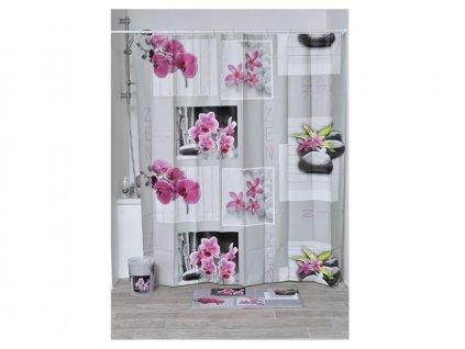 sprchový závěs orchideje a