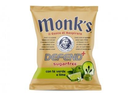 monks zelený čaj a citron a