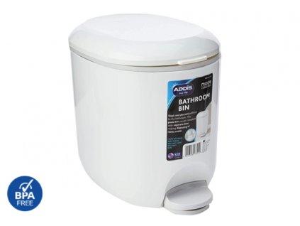 WC pedálový koš bílý