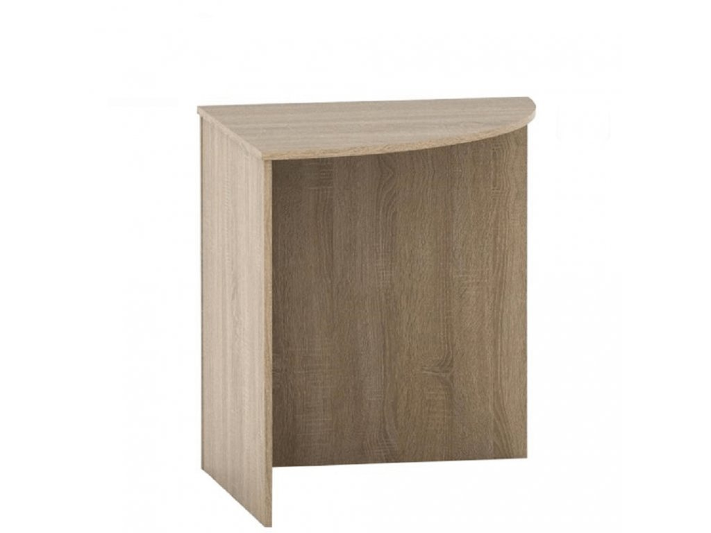 Stôl rohový oblúkový, dub sonoma, TEMPO ASISTENT NEW 024