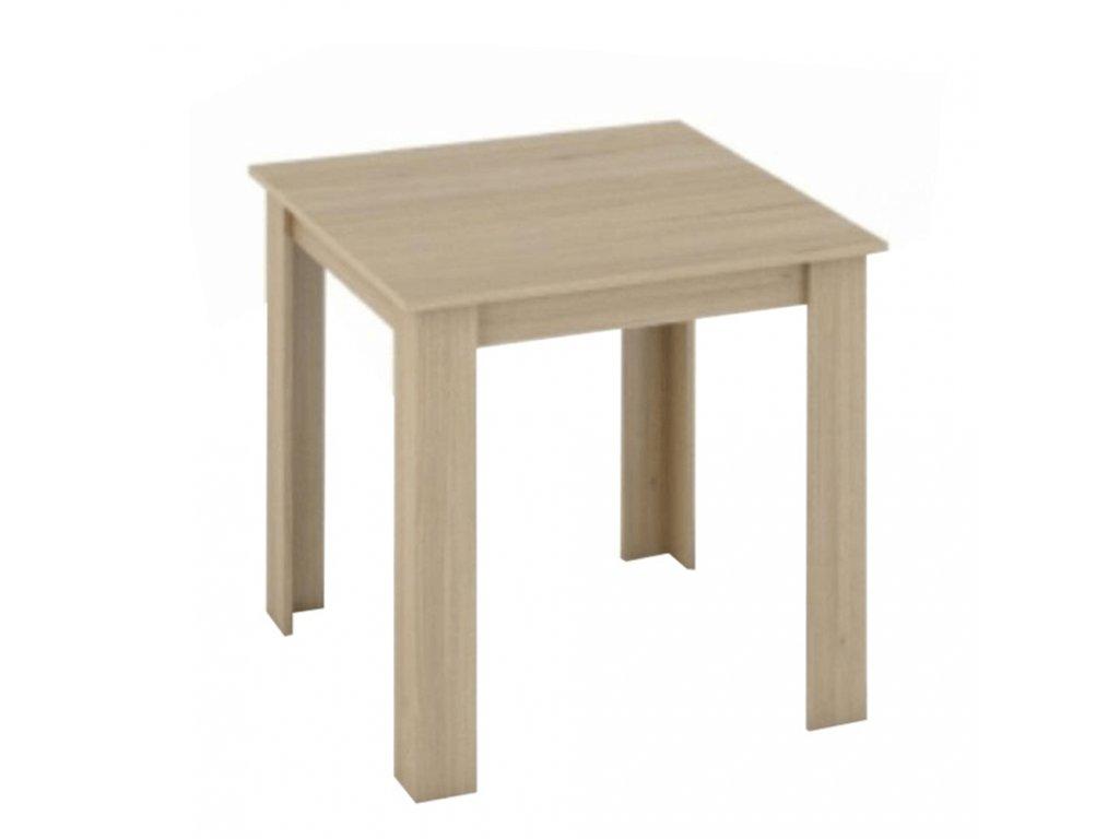 Jedálenský stôl, dub sonoma, 80x80, KRAZ