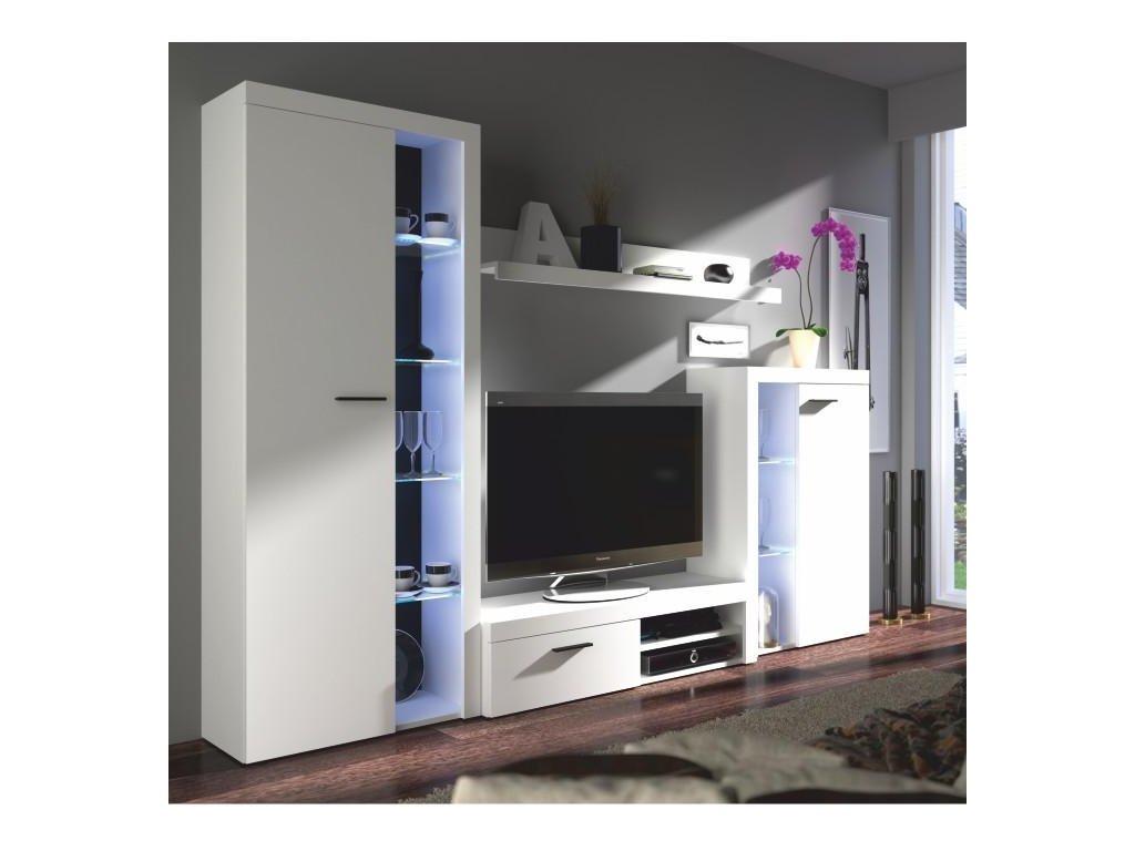 Obývacia stena, biela, ROCHESTER