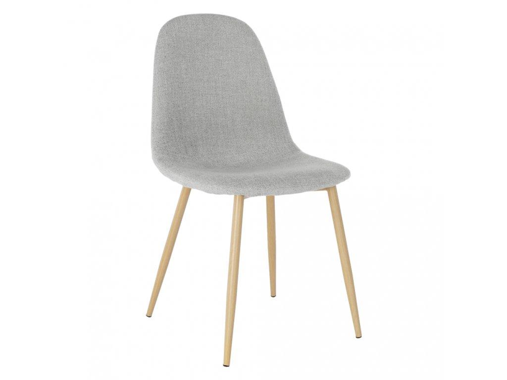 Stolička, svetlosivá látka/buk, LEGA