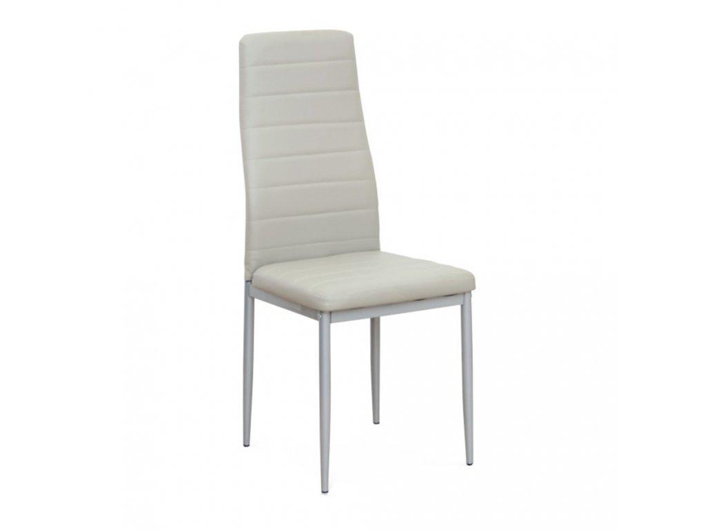 Stolička, svetlosivá ekokoža/sivý kov, COLETA NOVA