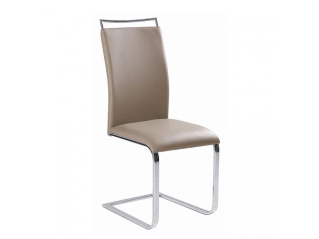 Jedálenská stolička,  svetlohnedá, BARNA NEW