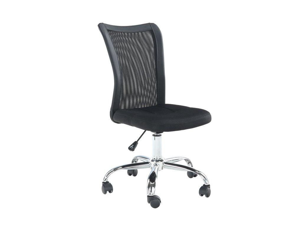 Kancelárske kreslo, čierna/chróm, IDOR