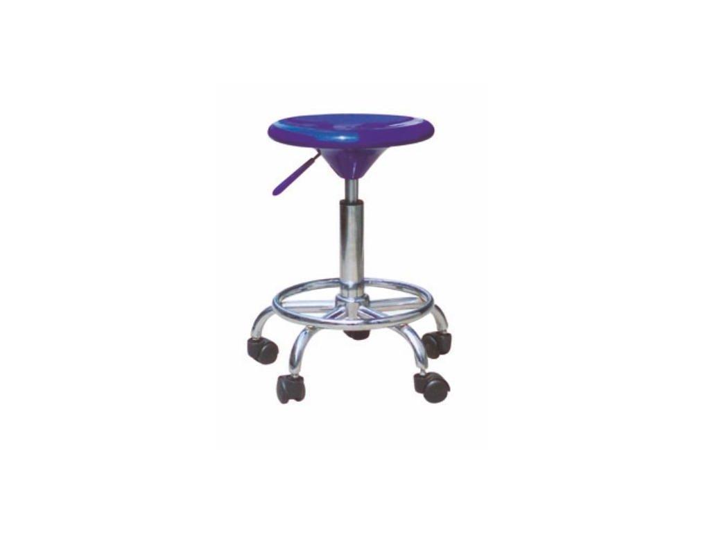 Stolička, modrá/chróm, MABEL 2 NEW
