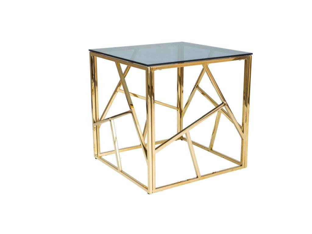 Signal Konferenčný stolík ESCADA B zlatý kov/dymové sklo