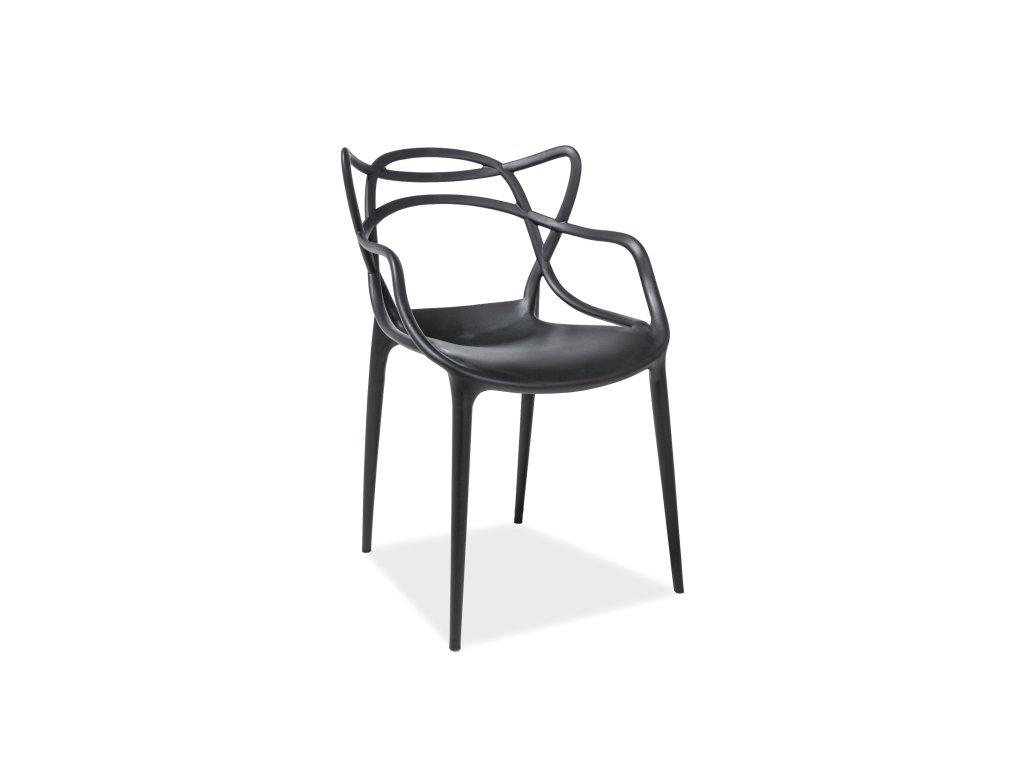Signal Jedálenská stolička TOBY čierna