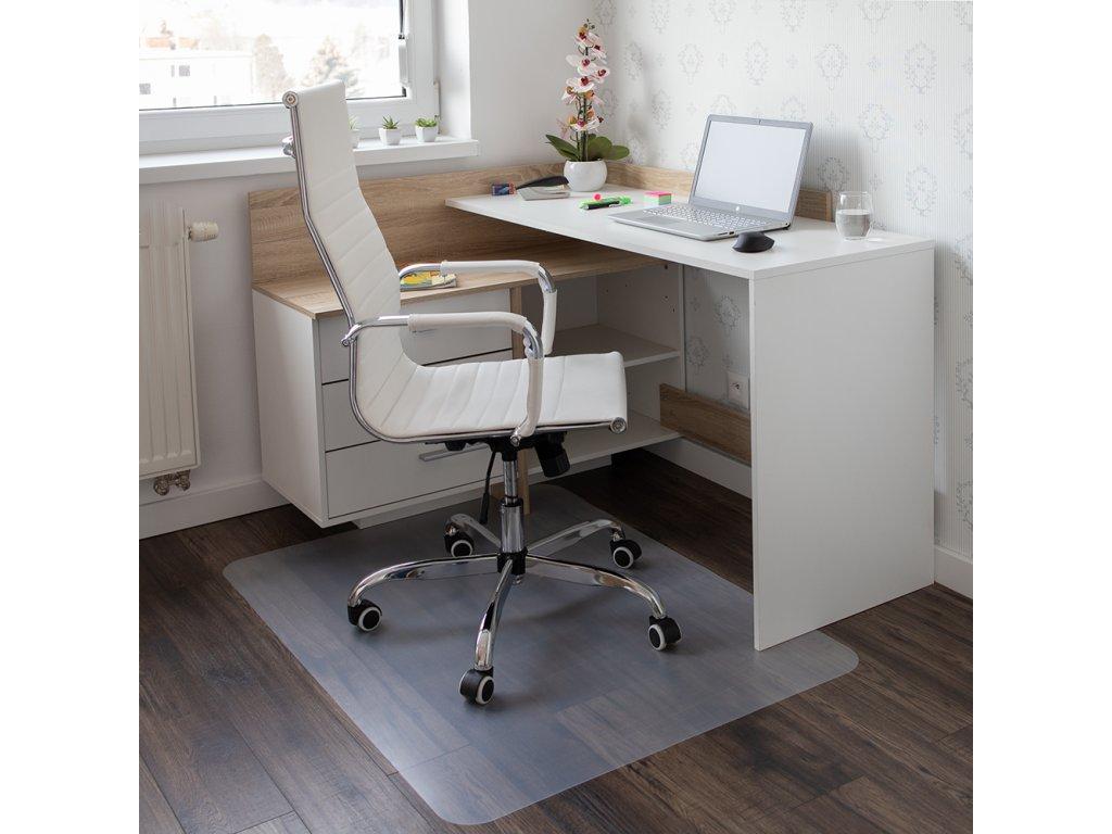 Ochranná podložka pod stoličku, transparentná, 140x100 cm, 0, 8 mm, ELLIE NEW TYP 4