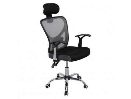 Kancelárske kreslo, čierna/sivá, GRISEL