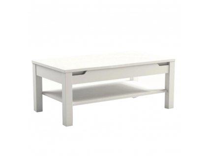 Konferenčný stolík, biela/biela s extra vysokým leskom, ADONIS AS 96